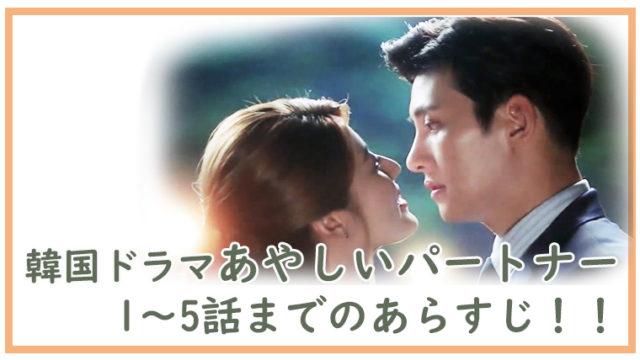 韓国ドラマ-あやしいパートナー1~5話