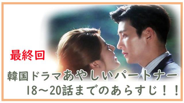 韓国ドラマ-あやしいパートナー18~20話